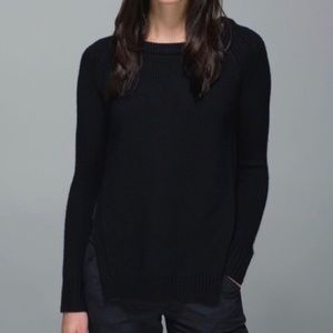 Lululemon Yin to You Sweater In Black